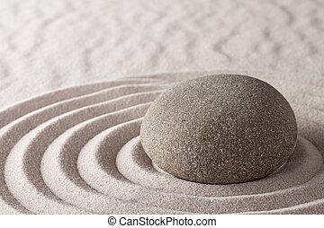 Zen, meditação, jardim