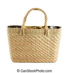 Floral inside basket tote - Floral printed inside basket...