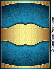 Abstract Gold Floral Background