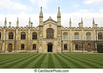 Corpus Christi College, Cambridge - The main quadrangle and...