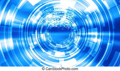 Techno Venus background - 10374 Blue Techno Venus background...