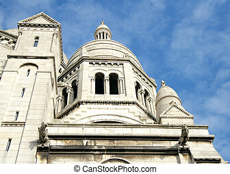 Sacre Coeur Basilica 1914, Paris, France - One of domes of...