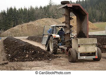 Kompostierbetrieb - Heissrotte eines Kompostierbetriebes