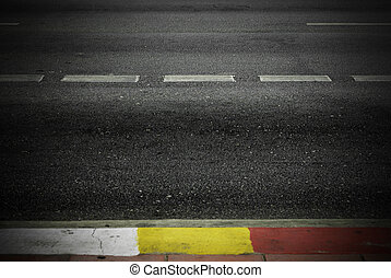 Highway with road markings background