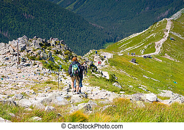 Tatra Mountain, Poland, walk from Kasprowy Wierch to...