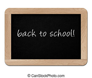 small wooden blackboard isolated on white background