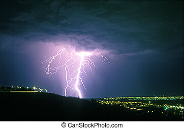 Lightning puts on a fabulous show and this evening was no...