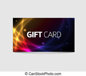 Modern gift card template - abstract plasma background