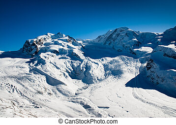 Monte Rosa and Lyskamm in
