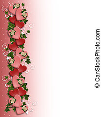 Valentine Border - Illustration and image composition for...