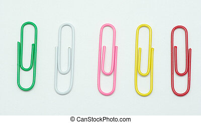 paper-clip isolated on white background with clipping path