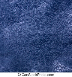 shiny blue leather background close up