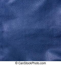 shiny blue leather background close up
