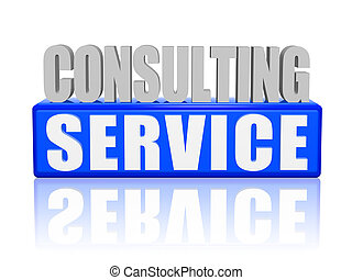 consulting service in 3d letters and block - consulting...