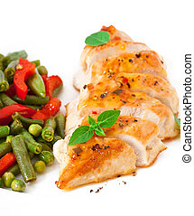 Chicken breast with vegetables