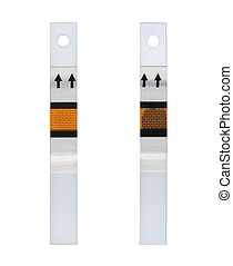 Fresh and spent test strip - Unused and used test strips for...