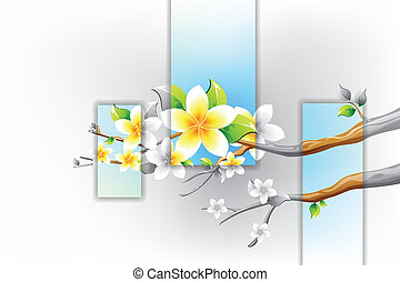 Colorful Flower blooming on branch of Tree