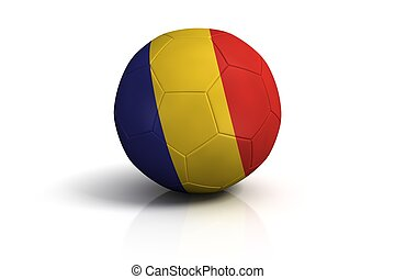 Romania football on white Background