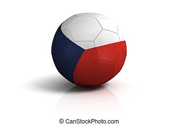 Czechs football on white Background