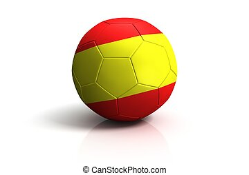 Spain football on white Background