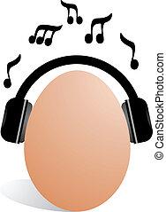Musical egg - Creative design of musical egg