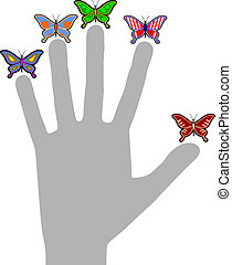 Hand imaginative - Creative design of hand imaginative