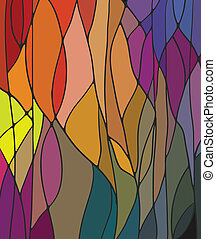 Stained Glass Window - Multicolored Stained Glass Window...