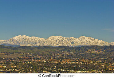 Snowy San Bernardino Mountains during Winter - San...