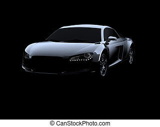 Abstract Audi R8 on black background