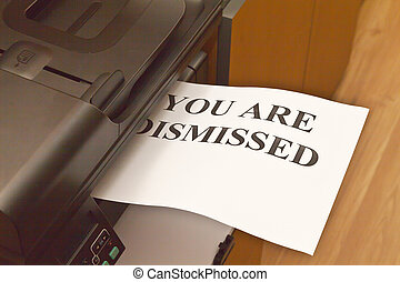 You are dismissed - Leaf with an inscription You are...