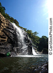 waterfall - Photo largest waterfall in the nature of on...