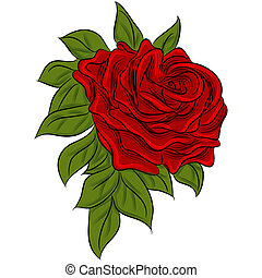 Rose Drawing - An image of a rose drawing.