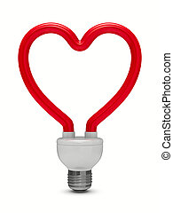 energy saving bulb on white background. Isolated 3D image