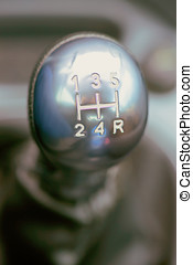silver shifter used with white letters