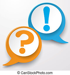 Question Answer Speech Bubble Label - Paper lahels with...
