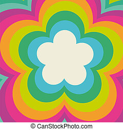 Colorful Paper Flowerholes - Colorful flowerholes in the...