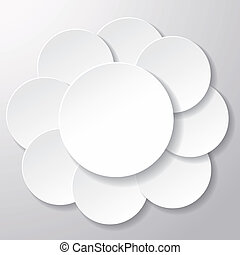 White Paper Circle Labels - White paper circles on grey...