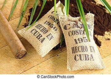 Cuban coffee and cigar