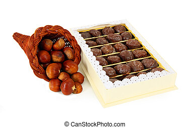 Marron glace - Box of delicious marron glace