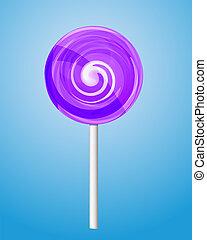 Violet candy lolipop Vector illustration