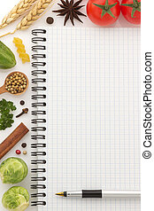 food ingredients and paper - food ingredients and recipe...