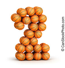 Number 2 basketball - Number 2 from basketball balls...