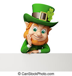 Leprechaun for st patricks day - 3d rendered illustration of...