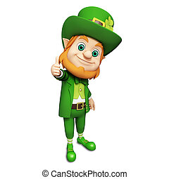 Leprechaun for st patrick's day - 3d rendered illustration...