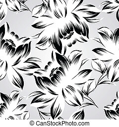 Seamless fancy flower wallpaper