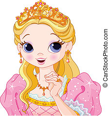 Beautiful princess - Illustration of beautiful fairytale...