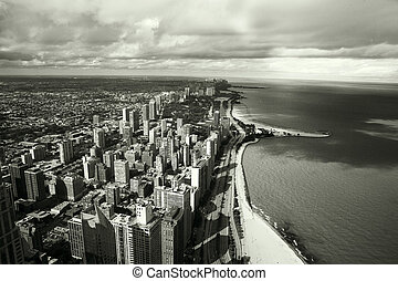 Chicago architecture - Amazing aerial view of Chicago...