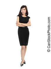 smiling business woman - Happy smiling business woman in...