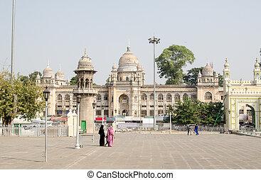 Nizamia Hospital, Hyderabad - View from the Mecca Masjid...