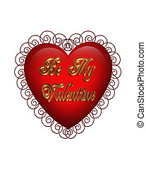 Valentine Heart Graphic isolated